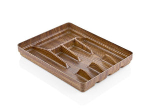 CUTLERY TRAY WITH WOODEN FINISH - HouzeCart