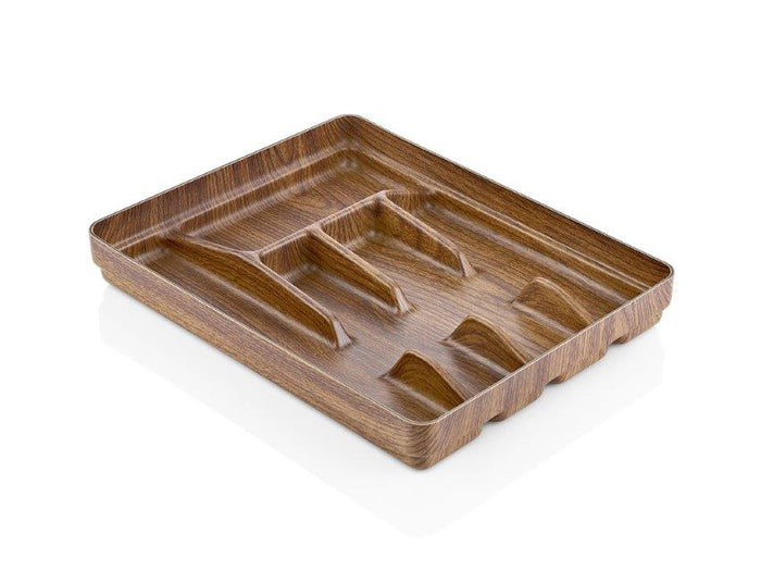 CUTLERY TRAY WITH WOODEN FINISH