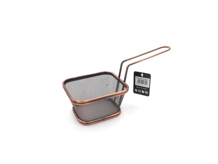 Copper Color French Fries Basket; 10 cm