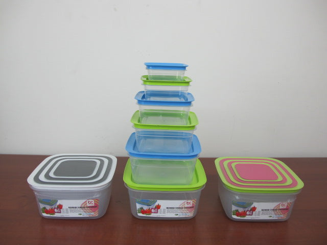 Squared Storage Container Set of 6