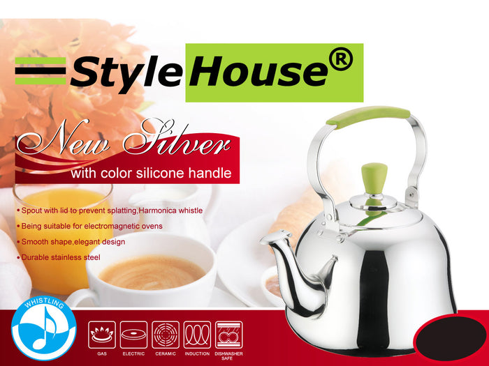 Colored Stainless Steel Teapot; 1 lt