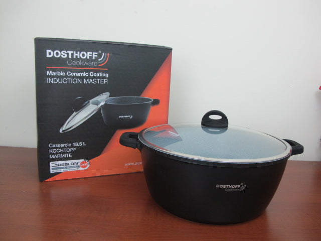 DOSTHOFF INDUCTION MASTER CASSEROLE BLACK 40 CM 18.5 L W