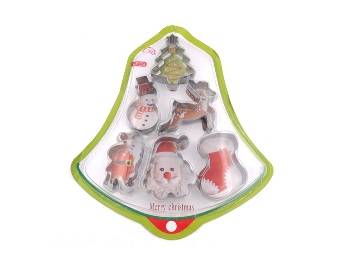 Set of 6 Christmas Cookie Cutters