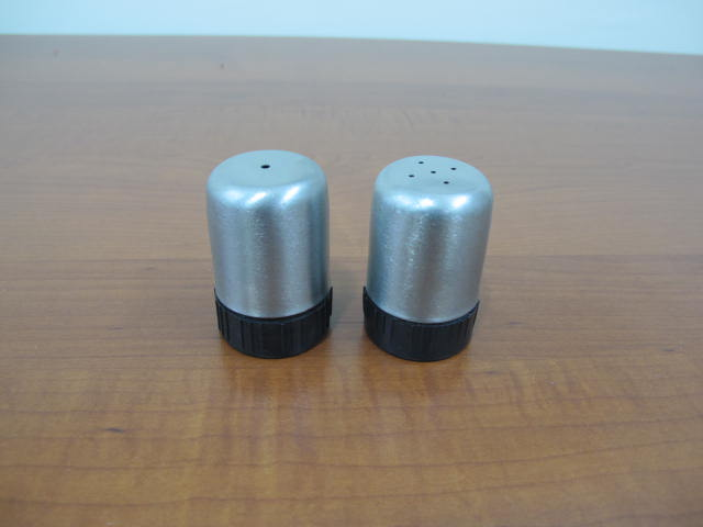 Stainless Salt and Pepper Shakers Set