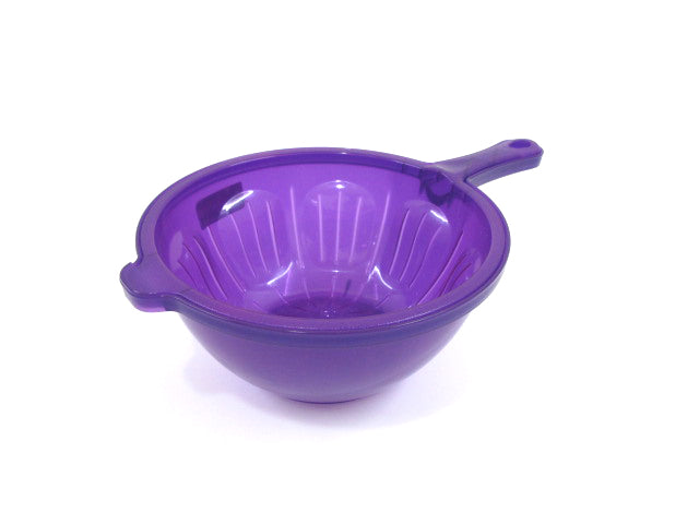 Transparent Plastic Bowl with Strainer Set