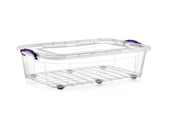 Wheelie Clear Storage Box; 40 lt