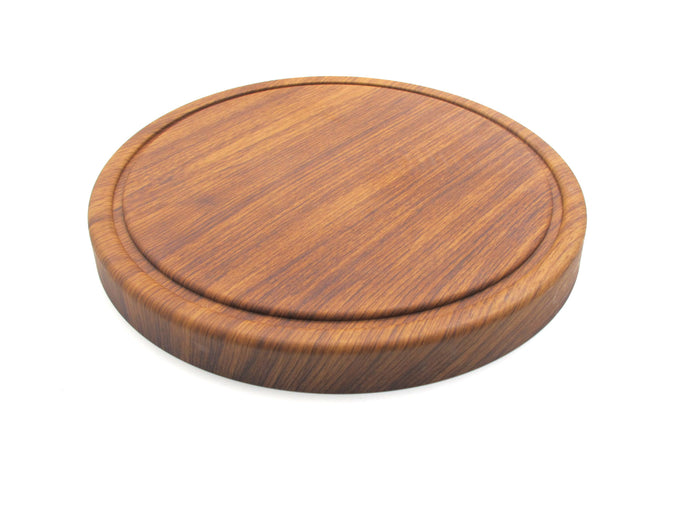 Round Display Board with Wooden Finish