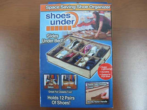 12-Section Zippered Underbed Shoe Bag - HouzeCart