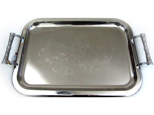 Large Stainless Steel Tray; 123886 XL - HouzeCart