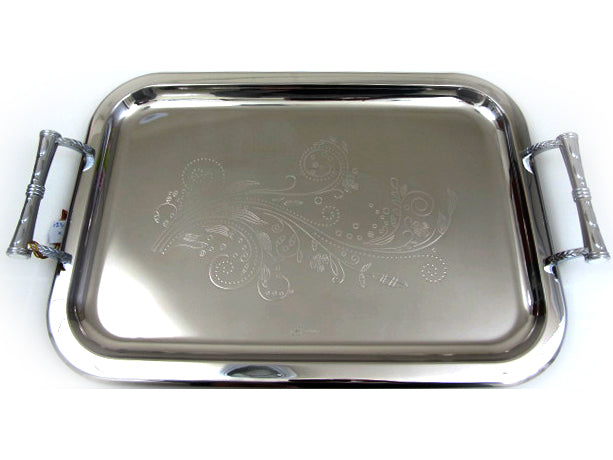 Large Stainless Steel Tray; 123886 XL