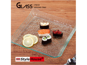 Squared Glass Serving Plate - HouzeCart