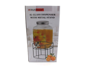 Glass Beverage Dispenser; 4 lt - HouzeCart