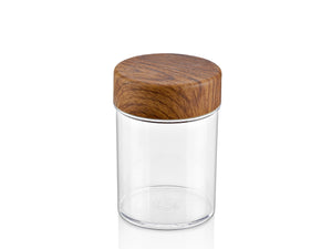 0,50 LT. ROUND JAR with Wooden Finished Lid - HouzeCart