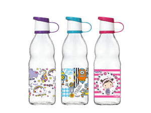 Decorated Glass Bottle, 0.5lt - HouzeCart