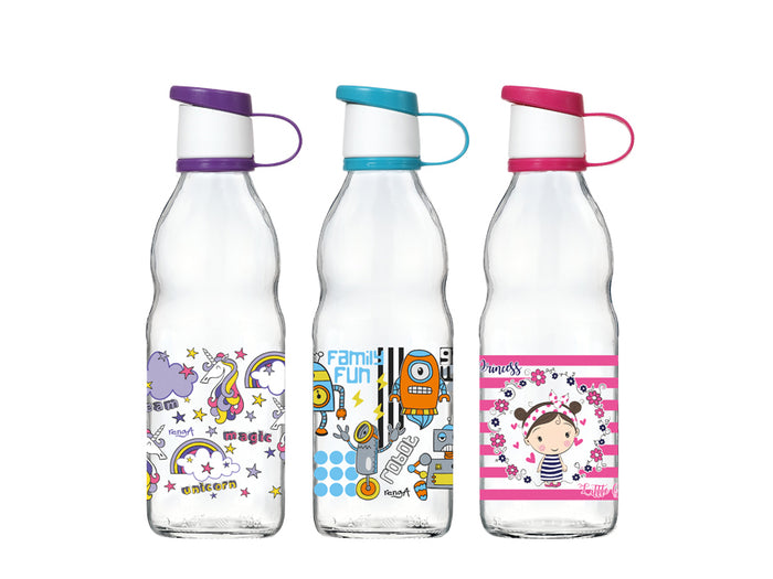 Decorated Glass Bottle, 0.5lt