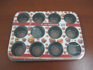 12 Cups Round Mini Muffin Cake Mold, Removable Bottom - HouzeCart