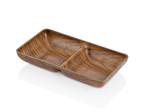 Small Snack Dish With Wooden Finish - HouzeCart