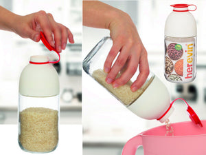 Cereal Jar with Dispenser; 1 lt - HouzeCart