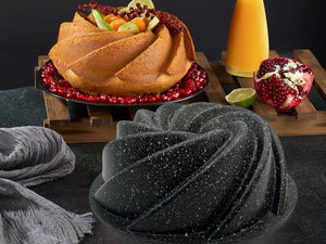 DOSTHOFF CAST ALUMINIUM GRANITE COATED BUNDFORM CAKE PAN - HouzeCart