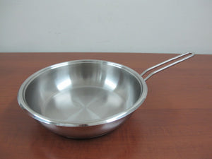 Stainless Steel Frying Pan; 24 cm - HouzeCart