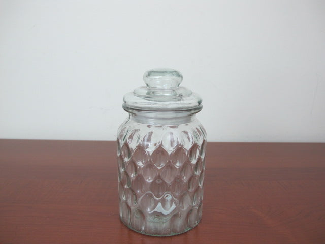 Medium Glass Jar Bee Hive Design