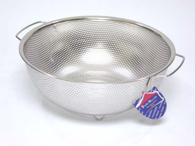 Stainless Steel punching colander; 31.5 cm