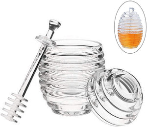 Plastic Honey jar with dipper - HouzeCart