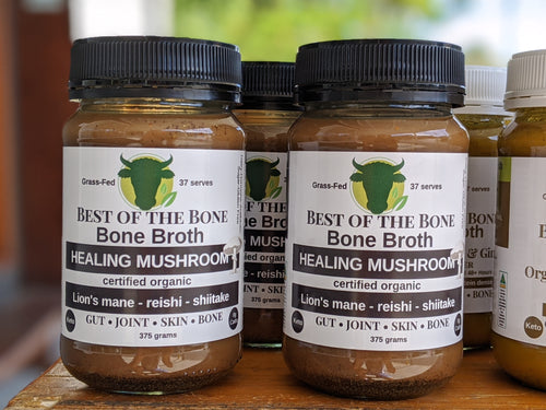 Best of the Bone organic Healing Mushroom - lion's mane-reishi-shiitake bone broth