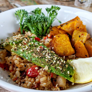 Breakkie Rice Buddha Bowl (GF, Vegan)