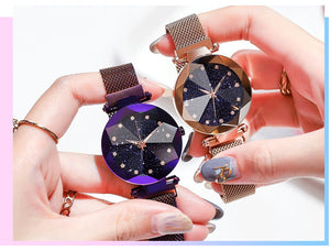 50% OFF-Ladies Magnetic Starry Wristwatches
