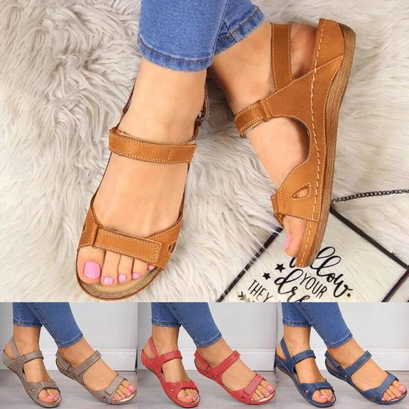 Premium Faux Leather Orthopedic Women Sandals (2020 Collection)