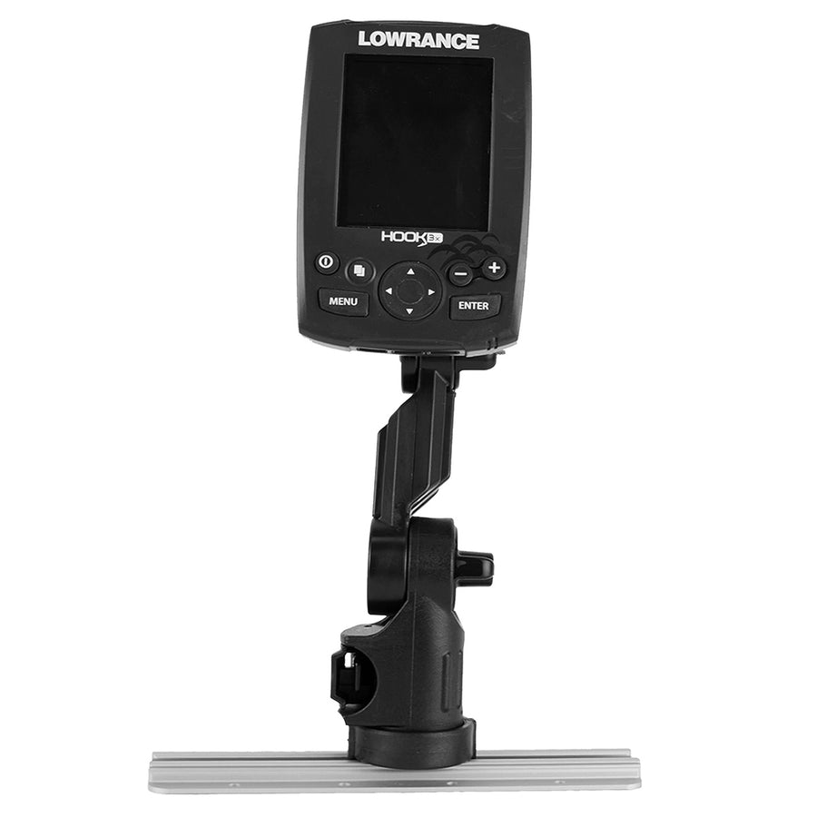 Yakattack Lowrance® Fish Finder Mount with Track Mounted LockNLoad™ Mounting System