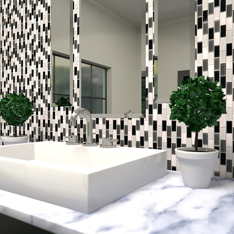 Glass Mosaic Tile for Bath Backsplash