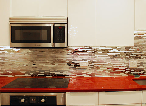 Stainless Steel Backsplash White Glass Project Renovation