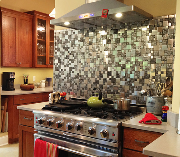 Stainless Steel Backsplash A Metal Mosaic Wall Tile Shop