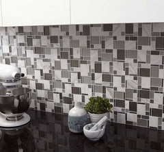 Glass Kitchen Backsplash Tile from Stainless Steel Backsplash Store