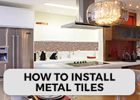 How To Install Metal Mosaic Tiles - a Step by Step Approach with Images