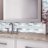 Glass Kitchen Backsplash Tile - Stainless Steel Backsplash Store