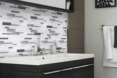 Glass Mosaic Kitchen Backsplash Tile from Stainless Steel Backsplash Store