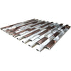 Silver And Chocolate Brick Mixed Aluminum Mosaic Tile (EMT_AL20-MIX-CB)
