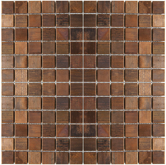 Medium Square Antique Copper Mosaic Tile (EMT_MM01-COP-AT)