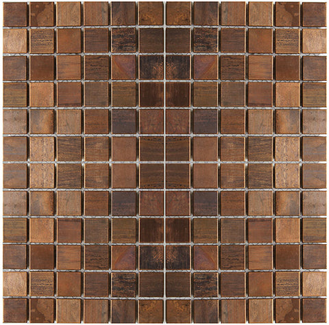 Medium Square Antique Copper Mosaic Tile for Backsplash Fireplace & Wall (EMT_MM01-COP-AT)