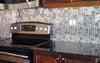 Kitchen Backsplash Install - Modern Cobble Pattern Stainless Steel Mosaic Tile (EMT_MM18-SIL-SM)