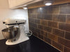 Kitchen Backsplash Install - Large Brick Antique Copper Mosaic Tile (EMT_T21-COP-AT)