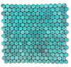 Turquoise Patina Penny Round Copper Tile for Backsplash & Wall (EMT_T59-COP-AT)