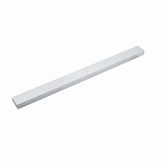 Stainless Steel Flat Border Edge Rail Trim Liner Tile 12 inches (EMT_TB447-SIL-SM)
