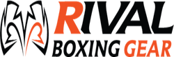Logo of Rival Boxing Gear from Canada in black and orange colours