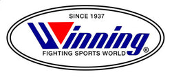 Logo of Winning Japan boxing in white, blue and red colours