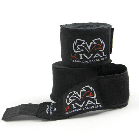 Rival Mexican-Style Handwraps Black - Bob's Fight Shop