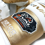 Rival RS-100 Professional Sparring Gloves White/Gold - Bob's Fight Shop